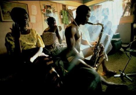 Fela on saxophone
