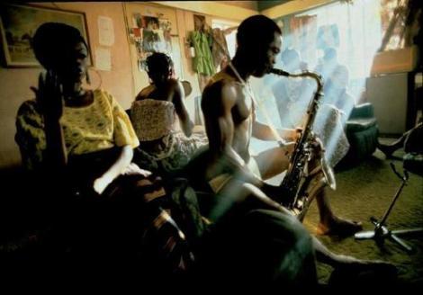 Fela on saxophone