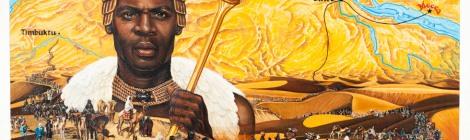 An artistic rendition of Mansa Musa of Mali