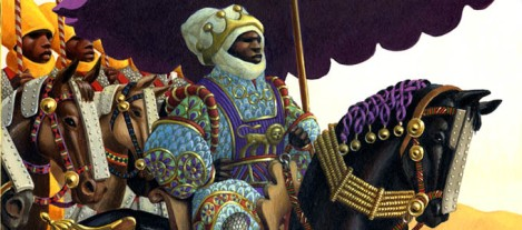 An artistic rendition of emperor Mansa Musa