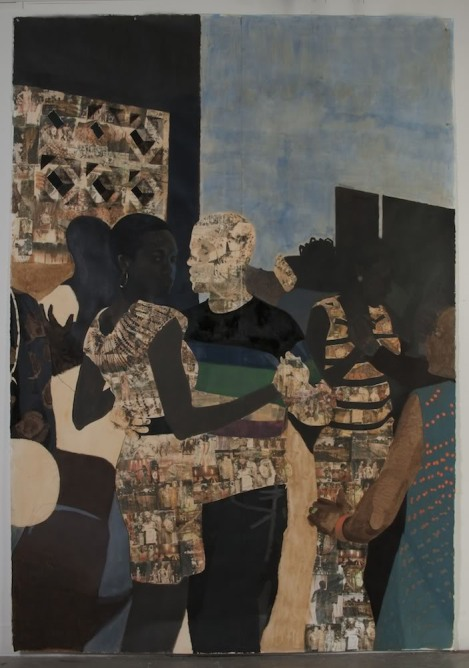 """I refuse to be invisible"" by Njideka Akunyili."