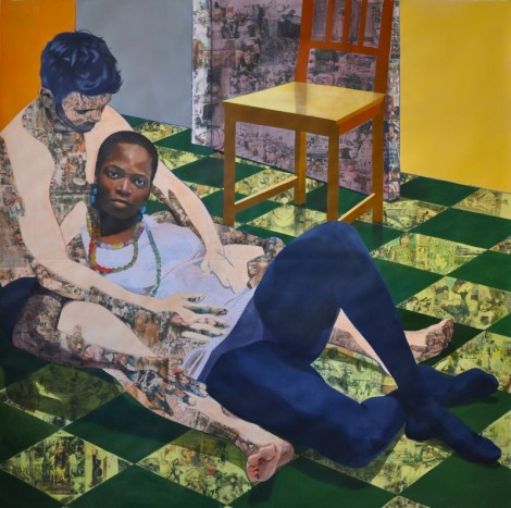 """Cradle Your Conquest"" by Njideka Akunyili."