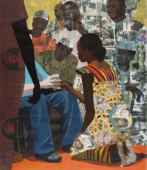 """Wedding Portrait"" by Njideka Akunyili"