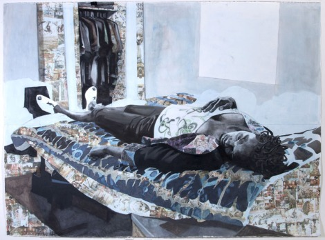 """The rest of her remains"" by Njideka Akunyili"
