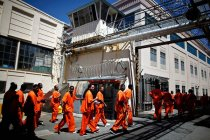 Inmates at the state prison in San Quentin, California. June 2012.