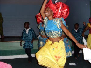 Yeah...it's me again. This event was a few years ago. We're dancing to a popular highlife track from Osadebe.