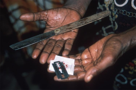 Tools used for female genital cutting