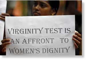 Virginity test protest