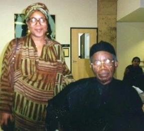 With Professor Achebe on my birthday! Creative Writing in English Conference Across Languages and Cultures: Creative Writing in English by non-Native Speakers. — at West Chester University of Pennsylvania.