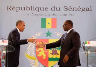 U.S. President Barack Obama meets his Senegalese counterpart, Macky Sall