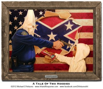 "A Tale of Two Hoodies. 30"" x 40"" 
