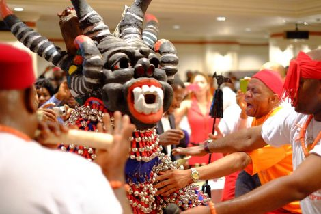 In Igbo culture, masquerades are a symbolic representation of the spiritual world
