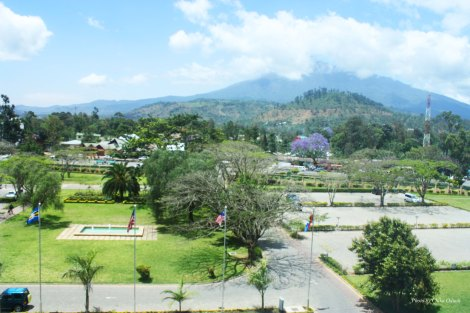 View of Mt. Meru from Mount Meru Hotel in Arusha, Tanzania. Photo by Chika Oduah. October 2013