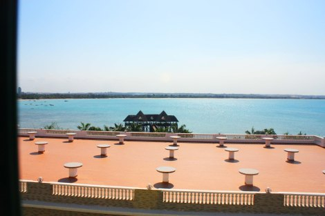 View of the Indian Ocean from the Double Tree Hotel in Dar es Salaam. Photo by Chika Oduah. October 2013