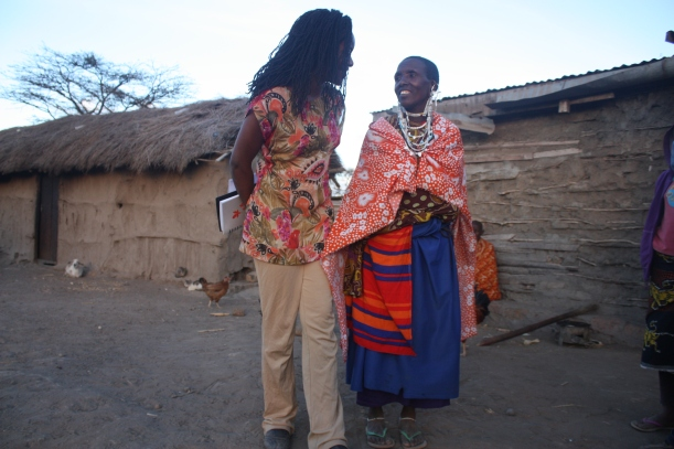 In my best Swahili, I express my gratitude to a Maasai woman after interviewing her