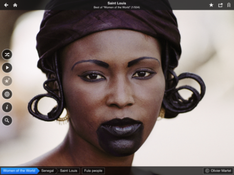 A portrait of a women from Saint Louis, Senegal