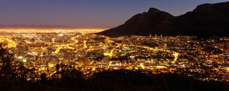 South Africa at night