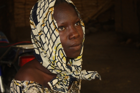 Lydia Pogu escaped from Boko Haram attackers her abducted her along with almost 300 others female students in Chibok, Nigeria. Photo by Chika Oduah