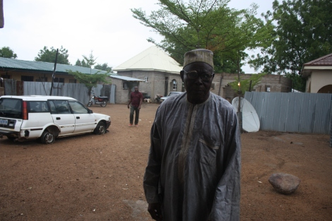 "Bitrus ""Badalu"" Dawa is said to be the oldest man in Chibok. He says he was born in 1910. Photo by Chika Oduah"
