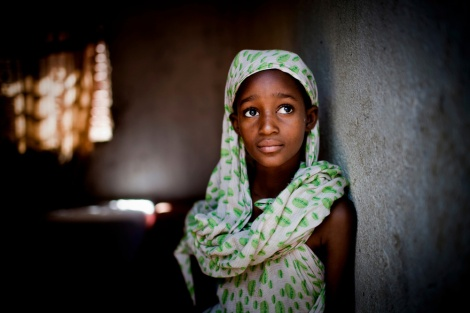 A young girl in Mali gazes wistfully. Credit Katie Orlinsky