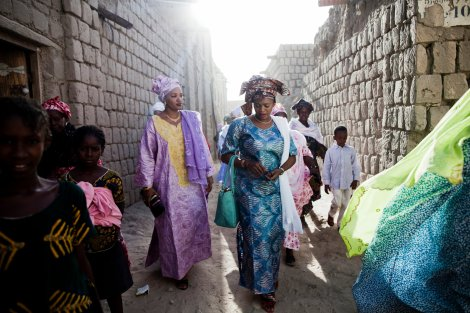 Women gather in the streets of Timbuktu to celebrate a three-day wedding. Less than a year ago, these women would have been put in prison for such activity. Credit Katie Orlinsky