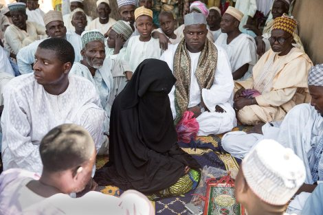 The wedding Fatiah, or party, of Maryan Nazifi, in Dawakin Tofa, another small town outside of Kano. Photo by Glenna Gordon.