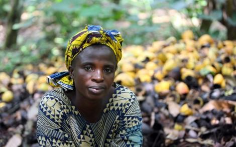 Nigeria woman cocoa