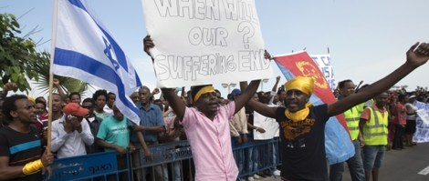 African Asylum seekers who have been denied entry into Israel