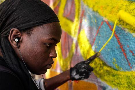 Dieynaba Sidibe at work. (Photo: Ricci Shryock/ONE)