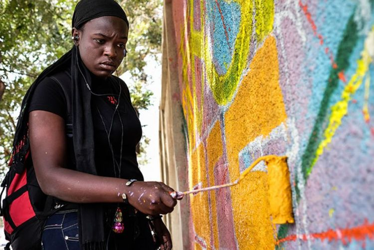 Senegal's First Female Graffiti Artist Is Leaving a Fearless Mark Dieynaba Sidibe is challenging views on women's roles and calling for equality, one spray-paint can at a time.