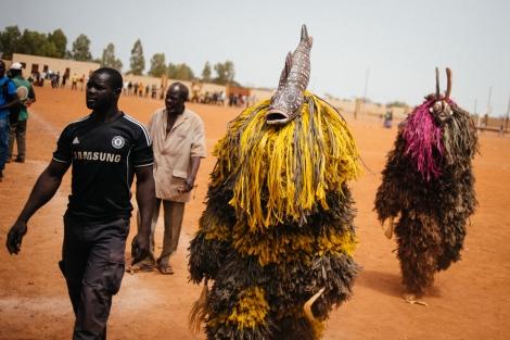 Fiber masks from Lery village. Photo by Jacob Balzani Loov