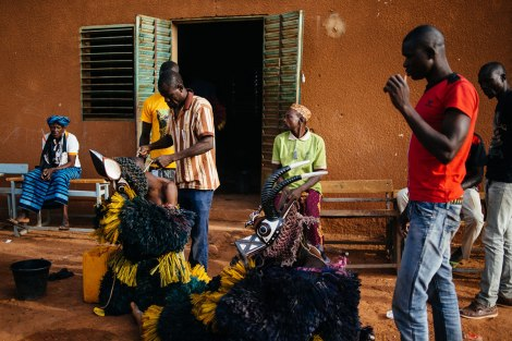 Fibre masks from Daman village in Burkina Faso. Photo by Jacob Balzani Loov