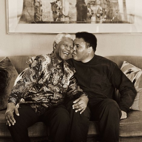 Muhammad Ali and Nelson Mandela share a tender moment